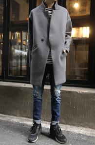 Grey Over Fit Neoprene Coat<br>���� �÷�,������ ����<br>�ڽ��� ���� ������ ������Ʈ