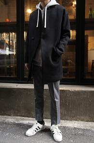 Black Over Fit Neoprene Coat<br>�? �÷�,������ ����<br>�ڽ��� ���� ������ ������Ʈ