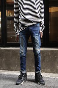 Slim Fit Blue Washing Denim Pants<br>������ �Ͱ�, ��� ���� ���̽�<br>��Ʈ���̵� �������� ��������