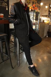 Black Long Zipper MA-1 Jacket<br>�?�÷�, ���� ������<br>���� ���尨�� MA-1 ����
