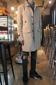 Beige Button Field Single Coat<BR>�������÷��� ��ưȥ�����<BR>������ �������� �̱� ��Ʈ