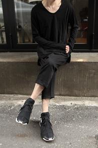 Black Loose Fit Long T-Shirts<br>�?�÷�, ��ư����<br>������ �Ͱ��� ��Ƽ����