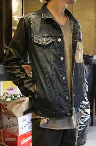 Leather Mix Denim Jacket<br>���� ����ũ�������縦 �ͽ�<br>�������Ͱ��� �����ͽ� ����