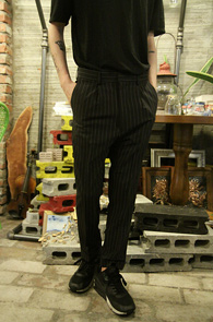 Black Stripe Baggy Slacks<br>�?�÷��� ��Ʈ������ ����<br>���� ������� ��Ʈ������ ������