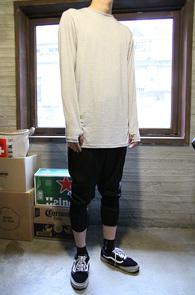 Grey Arm Warmer Long T-shirts<br>�����÷��� ��ư����<br>�Ͽ��� �������� �����̴� Ƽ����