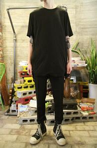 Black Long Half T-Shirts<br>�? �÷��� ��ī�� ���<br>���� ���尨�� �⺻ Ƽ����