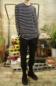 Black Cotton Basic Stripe T-Shirts<br>�?��ȭ��Ʈ ����� ��ư����<br>����� �������� �⺻ �ܰ��� Ƽ����