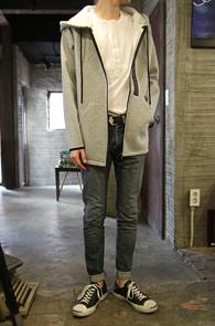 Grey Neoprene Zipper Hood<br>�����÷��� ������ ����<br>������� �������� ������ �ĵ�