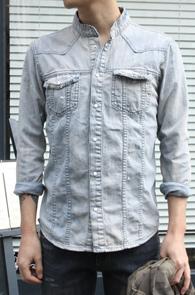 Light Blue Washed Shirts<br>����ī���� ��û ���� ����<br>������ ������ ������ �Ƿ翧