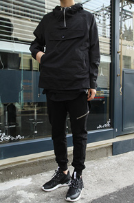 Black Anorak Hood Tshirts<br>�?�÷��� ���Ϸ� ȥ�� ����<br>�ƿ����� ������ �Ƴ�� �ĵ�Ƽ