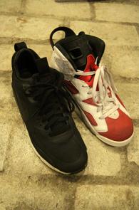 Air jordan 6 Carmine+Nike mid no sew