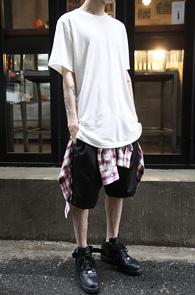 White Long Half T-Shirts<br>ȭ��Ʈ �÷��� ��ī�� ���<br>���� ���尨�� ��� Ƽ����