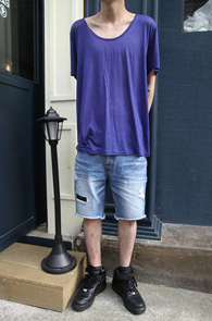 Soft Cotton U-Neck T-Shirts<br>����Ʈ�� ���� ���, �ΰ��� �÷�<br>���̿� ��� �ΰ��� ����Ƽ����