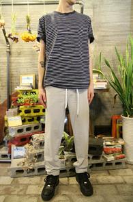 Stripe Print T-Shirts Navy<br>���̺� �÷��� ��ư ����<br>��Ʈ������ ������ ������ Ƽ����