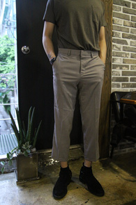 Grey Basic Slim Wide Slacks<br>�׷��� �÷��� ���� ���̵� ������<br>�⺻���� �÷��� 9�� ������ ���� ��밨