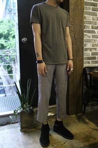 Pocket Charcoal T-Shirts<br>���� �÷�, ���� ������<br>���������� �⺻ Ƽ����