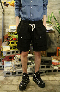 Linnen Cargo Half Pants Black<br>�?�÷��� ���ټ���<br>ī�� �������� ��������