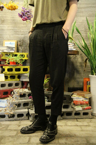Black Linnen Wide Fit Turnups Slacks<br>�?�÷��� ���̵��� 9�� ������<br>ũ��Ʈ�� ���尨�� ���� ��밨