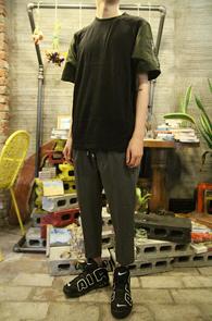 Black MA-1 Half T-Shirts<br>�?�÷��� ��ư����<br>MA-1 �������� �⺻ Ƽ����