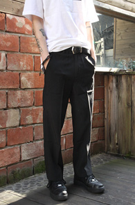 Black Wide Fit Slacks<br>�?�÷��� ���̵�����<br>������ �Ͱ��� ���̵� ������