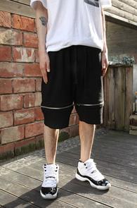 Black Zipper Point Half Pants<br>�?�÷��� ���� ������<br>���۷� ���������� ������ ��������