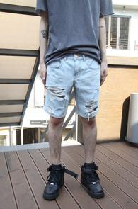 Light Blue Vintage Half Pants<br>��û�÷�, ��Ʈ���̵� ����<br>��Ƽ���� ������ ��û ��������