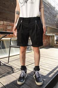 Black Zipper Short Pants<br>�?�÷�, ���۵�����<br>����ũ�� �������� ��������