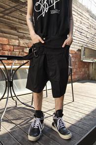 Black Belt Half Slack Pants<br>�?�÷�, ��Ư�� �Ƿ翧<br>����ũ�� �������� ��Ʈ ����