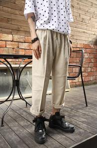 Banding Wrinkle Wide Pants<br>��� �ָ� ���̵� ����<br>��������,���� ��밨