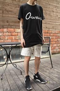Black Owens Long T-Shitrs<br>�?�÷�, ���� ���尨<br>������ �з��� ������ Ƽ����