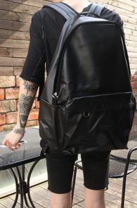 Black Embo Fake Leather Backpack<br>�?�÷��� ����Ŀ ��������<br>��������� ���� ����