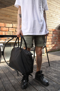 Black Simple Nylon Tote Bag<br>�?�÷��� ���Ϸ� ����<br>�������� ������ ��Ʈ��