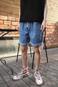Light Blue Span Banding Pants<br>��û�÷��� ���༺ �ִ� ���<br>��� �������� ���� ����