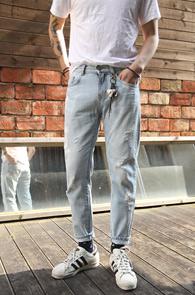 Light Blue Crop Denim Pants<br>��û���� ����� ������<br>ũ������ ��û ���� ����