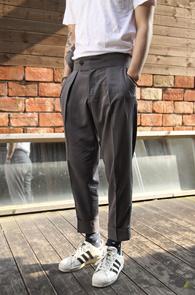 Grey TR Wide Fit Slacks<br>�����÷� , TR ���<BR>���̵��� �Ͱ��� ������