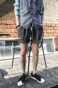 Jacquard Banding Half Pants Black<br>�? �÷�, �ڰ��� ���<br>��� �������� ��������