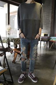 Charcoal Color Cotton Mix T-Shirs<BR>��� �ͽ� ������, 3���� �÷�<BR>������� Ȱ�� ������ 7�� Ƽ����