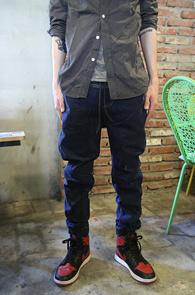 Blue Denim Jogger Pants<br>����÷��� ���Լ���<br>�������� ���۵� ��������