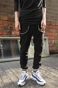 Black White Line Jogger Pants<br>�?�÷��� ȭ��Ʈ���� ����Ʈ<br>����� ��밨�� ��������
