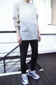 Grey Reversible Over Fit T-Shirts<BR>�����÷��� �����ú� ������<BR>������ �Ͱ��� �����̴� ������ Ƽ����