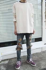 Ivoey Reversible Over FIt T-Shirts<br>���̺����÷��� �����ú� ������<br>������ �Ͱ��� �����̴� ������ Ƽ����