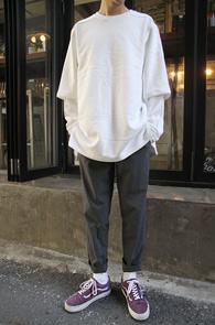 2 Color Layered Sweat T-Shirts<br>�?�� ȭ��Ʈ �ΰ��� �÷�<br>���̾�� �������� �ڽ� ��&#50939;����