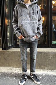 2 Color Fleece Halfzip Hood<br>�?�÷��� �����÷� �ΰ���<br>�ĸ�������� ������� �ĵ�Ƽ