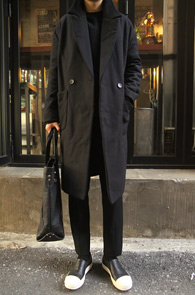 Black Over Fit Wool Coat<br>�?�÷��� ��ȥ�� ����<br>�̴ϸָ����� �������� ������ ��Ʈ