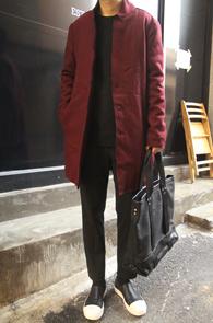 Virgin Wool Burgundy Single Coat<br>���������� ���ǵ� �÷�<br>�������� �������� �̱� ������Ʈ