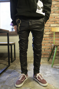 Black Baggy Fit Hard Coating Denim<br>�?�÷��� �����<br>�ϵ��� ���ð����� �������