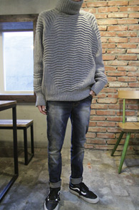Gray Wool Over Fit Turtle Neck<br>�׷����÷��� ��Ʈ����<br>�����ִ� �����Ͱ��� ��Ʋ�ش�Ʈ