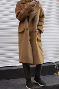 Camel Over Fit Double Long Coat<br>ī���÷�, �� ��ũ�� ȥ�����<br>�ڽ��� ������ �� ������Ʈ