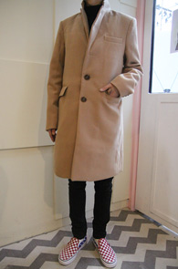 Slim Camel Single Coat<br>ī���÷��� �� ���<br>�Ȱ� ���� ó���� �̱� ��Ʈ