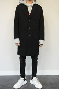 Black Washing Cotton 3 Button Coat<Br>�?�÷��� ���̰���� ��ư����<br>�������� �������� �̱� ��Ʈ